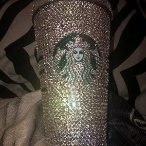 Other - Blinged Starbucks cup with gems on it handmade